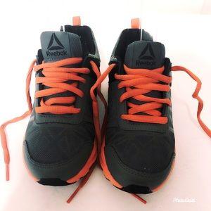 Reebok grey and orange shoes. Kids size 13